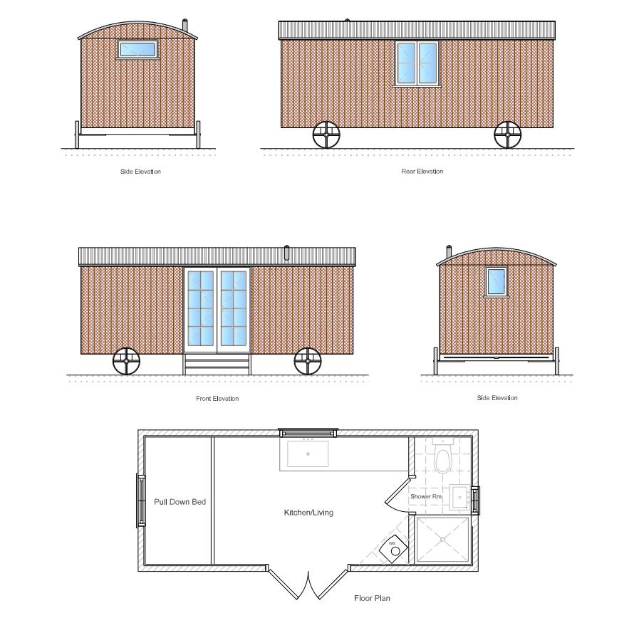 Shepherd Hut Floor Plans: Shepherds Huts